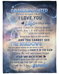 To my granddaughter - Never forget that I love you - Gift from grandpa