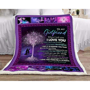 To My Girlfriend Blanket - Remind You That You Are The Best Thing  - Blanket Gift For Girlfriend - Valentine Gift For Him/her