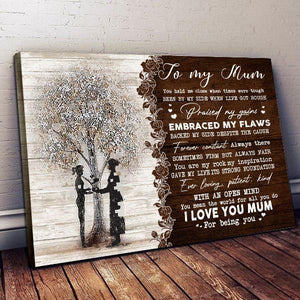 Happy mother's day - Mother and Daughter - I love you Mum For Being You - Family Presents - Great Blanket, Canvas, Clothe, Gifts For Family