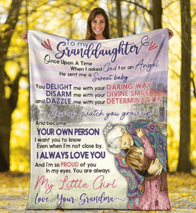 To My Granddaughter Blanket - Gift for Christmas, Birthday - Once upon a time My little girl