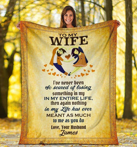 Personalized blanket to my wife - Nothing Means As Much As You Do - Family Presents - Great Blanket, Canvas, Clothe, Gifts For Family