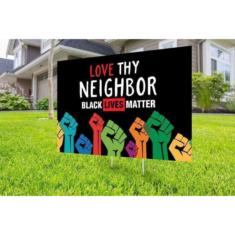 Dr Black lives matter yard sign design, Digital file only, No Hate sign, Black rights, human rights, Love thy neighbor, Black lives matter, - Family Presents - Great Blanket, Canvas, Clothe, Gifts For Family