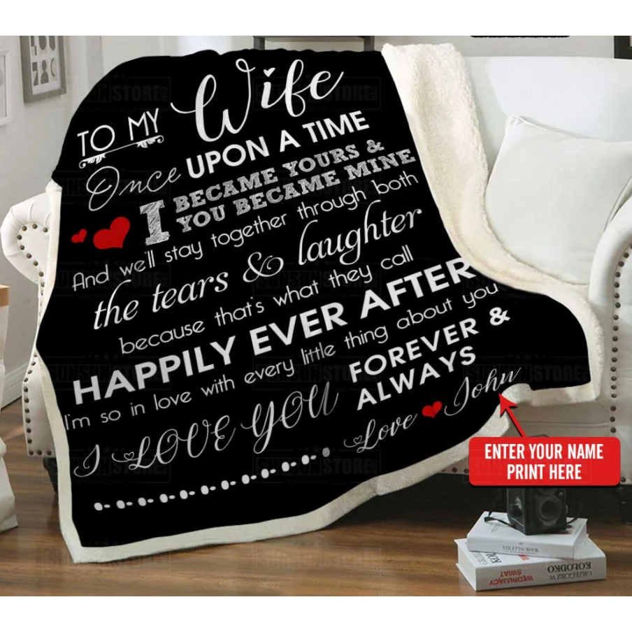 Personalized blanket - Perfect gift to my wife for Valentine - I'm so in love with every little thing about you
