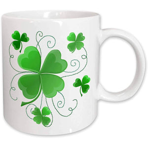 St. Patrick's Day 2021 Gifts  3dRose Lucky Shamrocks Just in Time for St.Patrick's Day, Ceramic Mug