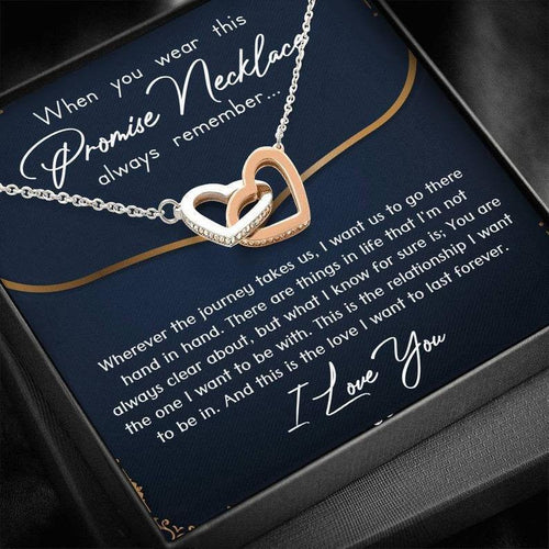 Promise Necklace for Girlfriend from Boyfriend, For Couples, Promise Necklace for Her, Valentine gift for her - Family Presents - Great Blanket, Canvas, Clothe, Gifts For Family