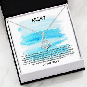 Necklace special gift for friend - My Anchor - Friendship Necklace Blue