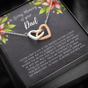Loss of Dad Gift: Loss of Father, Dad Remembrance Necklace, Dad Memorial Gift, Father Remembrance, Bereavement Dad, Father Keepsake, Grief - Family Presents - Great Blanket, Canvas, Clothe, Gifts For Family