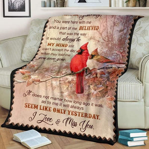 To My Girlfriend/Boyfriend Blanket - I Love And Miss You - Blanket Gift For Girlfriend/ Boyfriend - Valentine Gift For Him/her