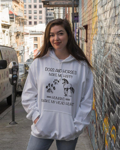 Dogs and Horses make me happy Standard Hoodie - Family Presents - Great Blanket, Canvas, Clothe, Gifts For Family