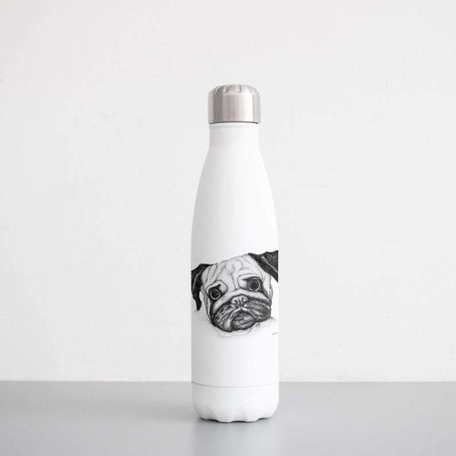 Pug Sketch  Insulated Water Bottle - Family Presents - Great Blanket, Canvas, Clothe, Gifts For Family