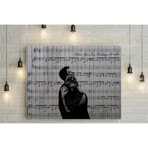 Anniversary Custom Music Sheet with Portrait - 10th Wedding Anniversary Gift, First Dance/ Wedding Song Music Notes on Canvas