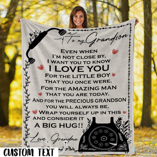 To My Grandson/Granddaughter Gift from Grandma Blanket- Gift for Christmas, Birthday