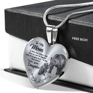 Mother's Day Jewelry Gift For Mom Keep Me In Your Heart Silver Heart Pedant Necklace From Daughter