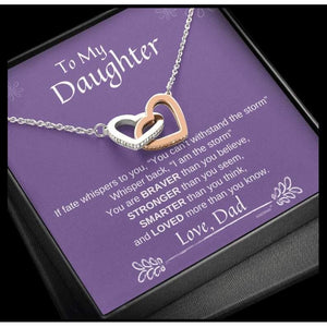 Daughter Necklace from Dad - Family Presents - Great Blanket, Canvas, Clothe, Gifts For Family