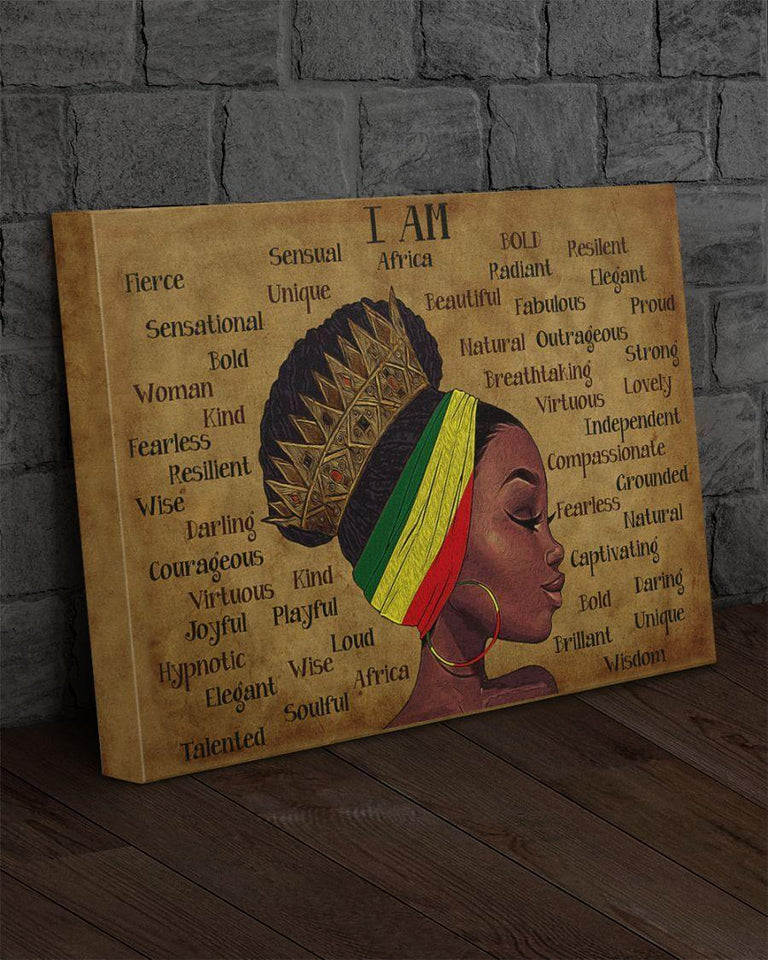 Black Queen Premium Gallery Wrapped Canvas Prints