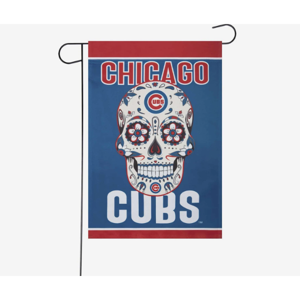 CHICAGO CUBS DAY OF THE DEAD GARDEN FLAG