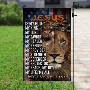 Happy easter day - Garden flag house flag - Jesus Lion Of Judah, My Everything Flag - Family Presents - Great Blanket, Canvas, Clothe, Gifts For Family