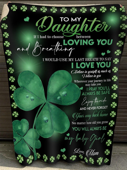 St. Patrick's Day 2021 Gifts  Perfect Gift For Your Daughter Blanket - Happy patrick's day Blanket - Gift from mom - mother and daughter