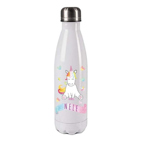 Unicorn For Children / Personalized With Name / Insulated Water Bottle For School And Sports - Family Presents - Great Blanket, Canvas, Clothe, Gifts For Family