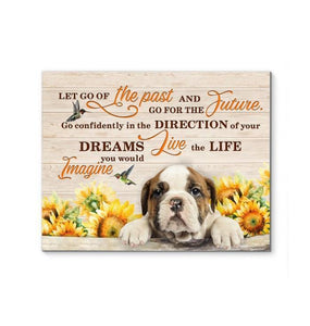 English Bulldog - Go for the future Canvas