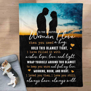 To My Beautiful Woman Blanket - Keep You Warm - Blanket Gift For Wife - Valentine Gift For Wife
