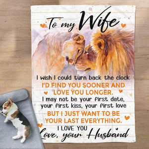 To My Wife Blanket - Your First Date - Blanket Gift For Wife - Valentine Gift For Wife
