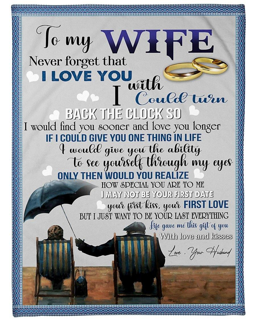 Blanket to my wife Couple Blanket - Valentine gift for her - I would find you sooner and love you longer