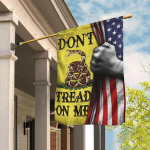 Don't Tread On Me American Libertarian Gadsden Flag - Garden Flag House Flag - Family Presents - Great Blanket, Canvas, Clothe, Gifts For Family
