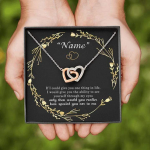 Personalized Interlocking Heart Necklace - To My Girlfriend/my wife - How Special You Are To Me - Gift for her on valentine