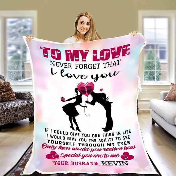 Personalized Couple blanket - Valentine gift to my wife - couple funny gift - You realize how special you are to me