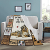 Dog Blanket Some Things Just Fill Your Heart Without Trying Aussie Australian Shepherd Dog Fleece Blanket