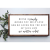 Being A Family Means You Will Loved And Be Loved - Housewarming Gift - Canvas
