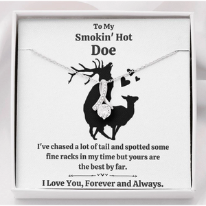 Personalized necklace to wife - Funny gift card - To my smokin' hot girl - Valentine gift for her