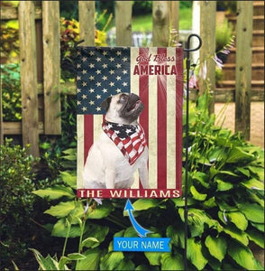 Pug God Bless Personalized Garden Flag, House Flag
