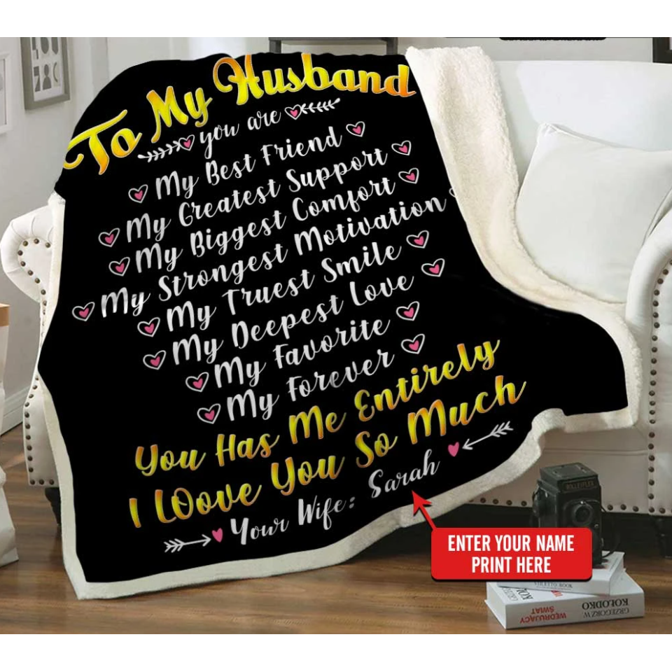 Personalized Blanket - Valentine gift for my husband - To my husband  my best friend