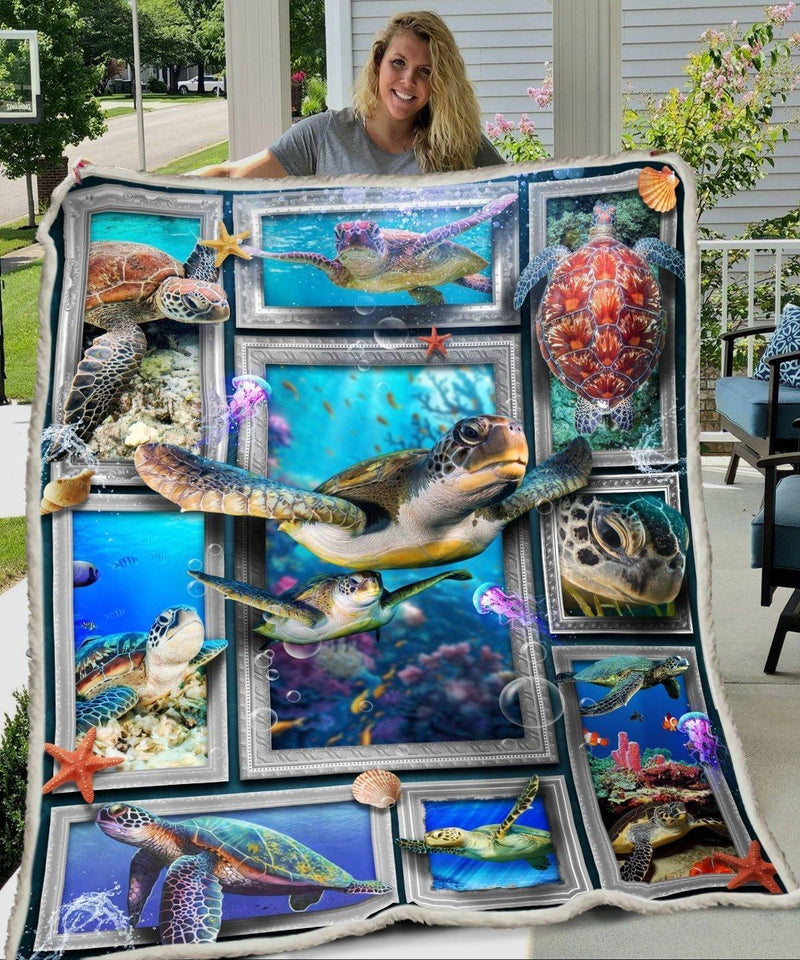 3D Huge Sea Turtle Blanket