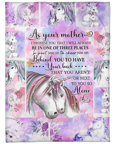 Baby Unicorn As Your Mother blanket - Family Presents - Great Blanket, Canvas, Clothe, Gifts For Family