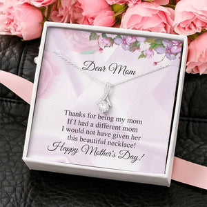 Mother's Day Necklace - Gift For Mother From Daughter - 14k White Gold Necklace - Given Her This Beautiful Necklace