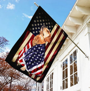 Golden Retriever American Patriot Flag, Garden flag, house flag - Family Presents - Great Blanket, Canvas, Clothe, Gifts For Family