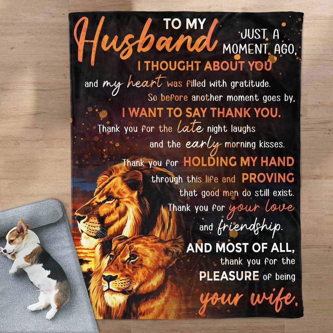 To My Husband Blanket - Holding My Hand - Blanket Gift For Husband- Valentine Gift For Husband