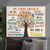 CUSTOM CANVAS - IN THIS OFFICE - We are a team Ver.4 - Family Presents - Great Blanket, Canvas, Clothe, Gifts For Family