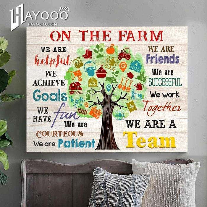 ON THE FARM - Canvas - We are a team Ver.4