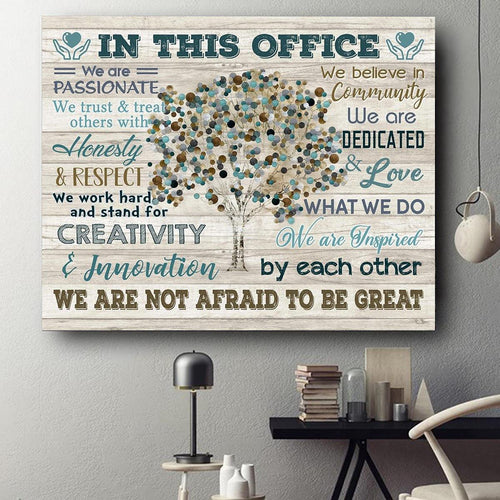 IN THIS OFFICE - Canvas - We are not afraid to be great Ver.13 - Family Presents - Great Blanket, Canvas, Clothe, Gifts For Family