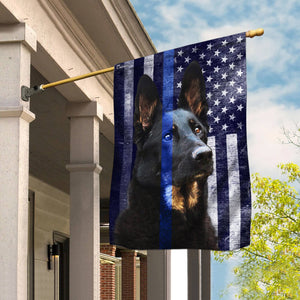 Police Dog. K9. The Thin Blue Line Flag - Garden flag House Flag