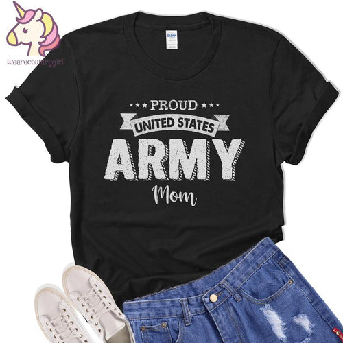 Mothers day Standard T-shirt - Veteran mother - Gift for mom from dughter and son - United States Army Veteran Proud t-shirt