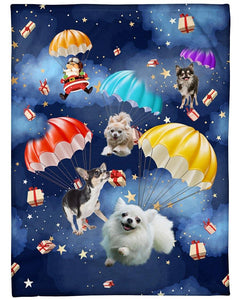 Chihuahua Parachute Xmas gifts blanket - Family Presents - Great Blanket, Canvas, Clothe, Gifts For Family