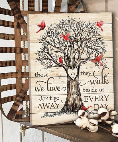 Memorial Cardinal Canvas - Those we love don't go away Wall Art Wall Decor