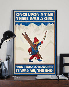 Canvas Prints - Once upon a time there was a girl who really loved skiing