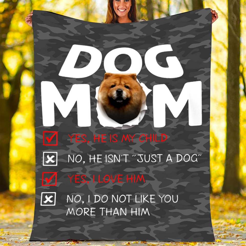BLANKET Chow-Chow DOG MOM BLANKET - FLEECE BLANKET