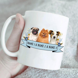 Custom Pet Portrait Mug/Personalized Pet Lover Gift/Unique Dog Owner Gift/Custom Cat Owner Gift/Customized Pet Owner Gift/Pet Cartoon Gift - Family Presents - Great Blanket, Canvas, Clothe, Gifts For Family